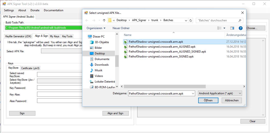 Android APK Signing Tool v2 (apksigner) | Shatter-Box