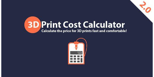 3D Print Cost Calculator 2.0 - Stable